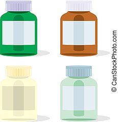 isolated painkillers bottles