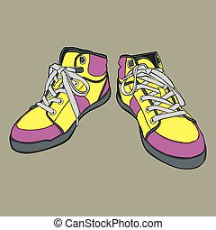 isolated shoes