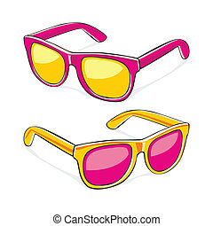 sun glasses - fully editable vector illustration of sun ...