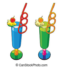 illustration of two cocktails