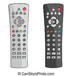 fully editable vector illustration remote control