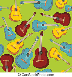 seamless pattern isolated guitars