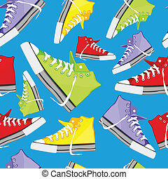 seamless pattern isolated shoes