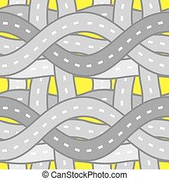 seamless pattern roads