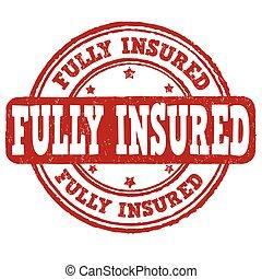 fully, forsikr, frimærke