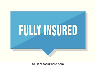 fully insured price tag - fully insured blue square price...