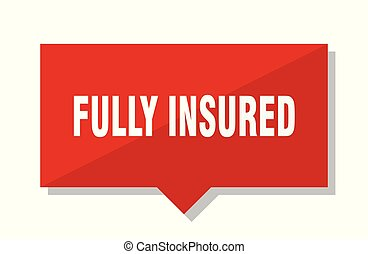 fully insured red tag - fully insured red square price tag