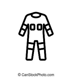 fully protective full body suit icon vector outline illustration