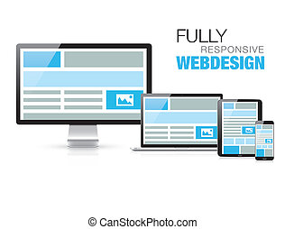 Fully responsive web design in modern realistic devices