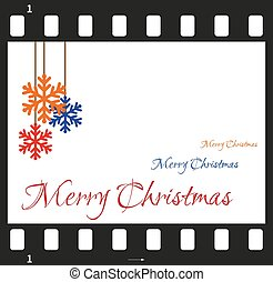 Christmas card with filmstrip