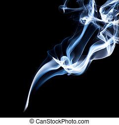 fumée, arrière-plan noir