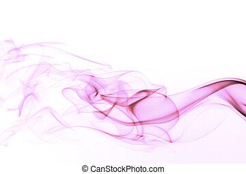fumée, blanc, arrière-plan coloré, isolé