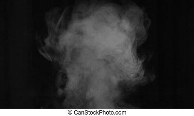 fumée, blanc, humidifier., jet, vapeur