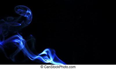 fumée noire, arrière-plan.