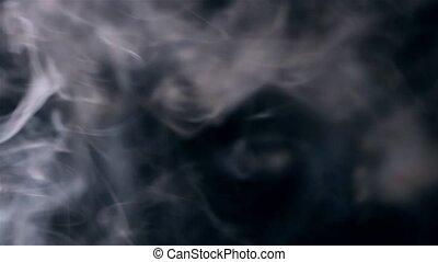 fumée, slo-mo, écran