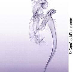 fumée, violet