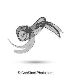 fumaça, copyspace, abstratos, ilustração, fundo, branca, sobre