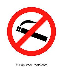 fumaça, dont, proibição, sinal