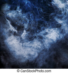 fumaça, iluminado, viga, de, light.