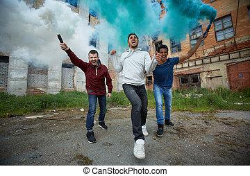 fumaça, raiva