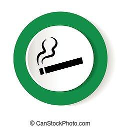 fumar, área, branco, experiência., vetorial, ilustração