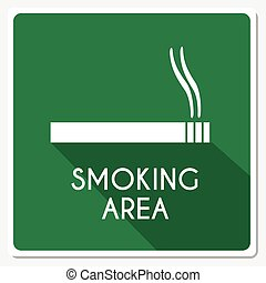 fumar, área, ilustração, sinal