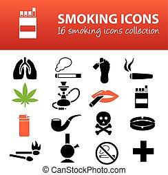 fumar, ícones