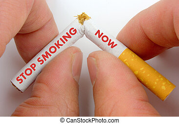 fumar, ahora, parada