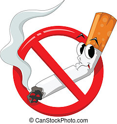 Fumar, caricatura,  no