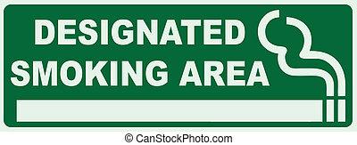 fumar, designado, área
