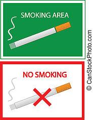 fumar, não, área