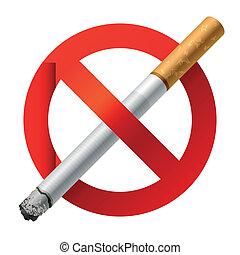 fumar, não, sinal