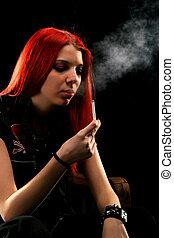 fumar, niña