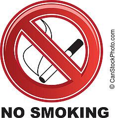 fumar, no, señal