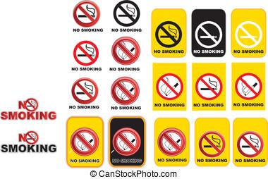 fumar, no, señales