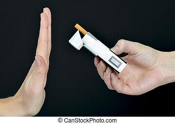 fumar, parada, tener