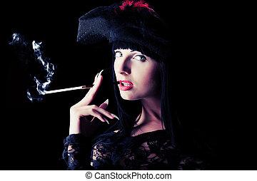 fumar, senhora