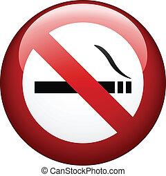 fumar, vetorial, não, marca