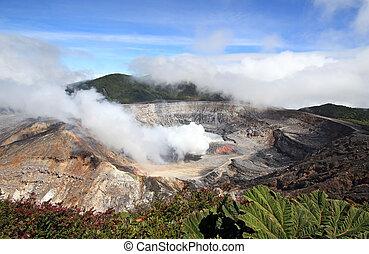 Fumarole Activity at Poás Volcano, Alajujela, Costa Rica