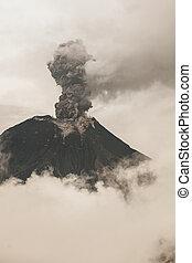 Fumarole At Tungurahua Volcano Crater, Ecuador, South America