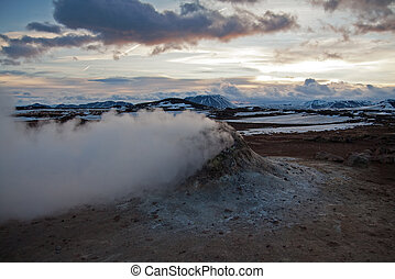 Fumarole Iceland