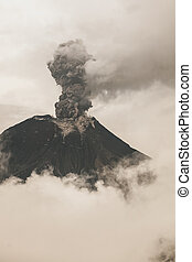 fumarole, tungurahua, vulkán