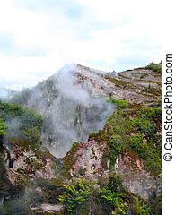 Fumaroles at Karapiti, Wairakei Natural Thermal Valley, near Taupo, New Zealand