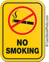 fumer, avertissement, -, non, signe