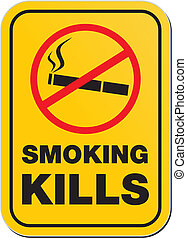 fumer, avertissement, -, tuer, signe