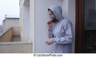 fumer, girl, jeune, cigarette