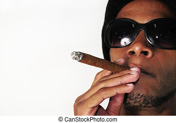 fumer, homme africain