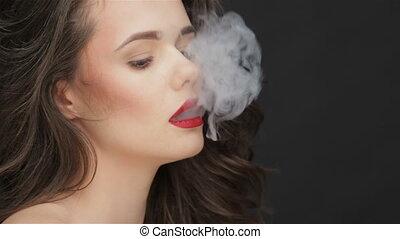 fumer, mal, concept, santé