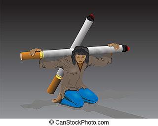 fumer, mauvais, nuisible, da, c'est