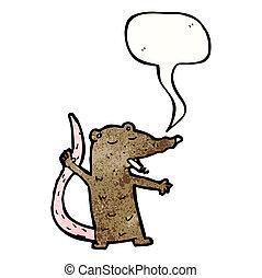 fumer, rat, dessin animé